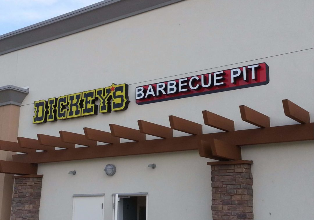 Channel Lettering For Dickie's Barbecue Pit