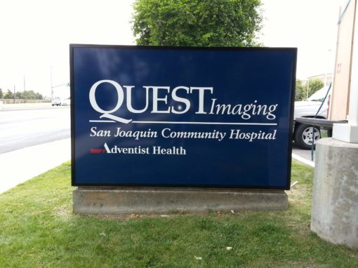 Monument Sign For Quest Imaging