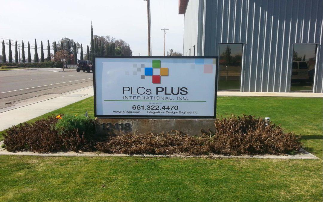 Monument Sign For PLCs Plus International