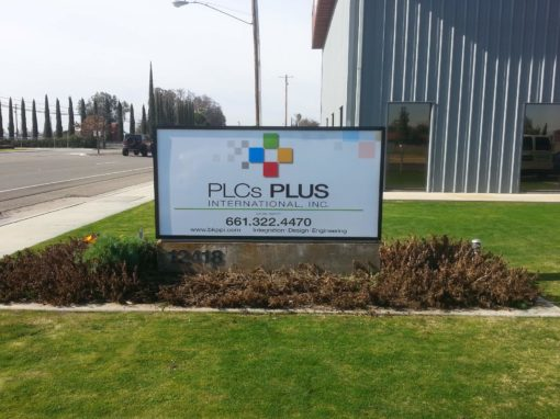 Monument Sign For PLCs Plus International