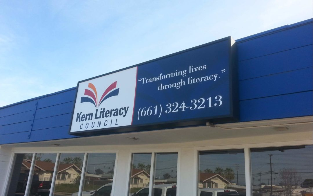 Cabinet Sign For Kern Literacy Council