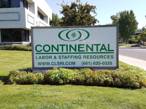Monuments Sign For Continental Labor & Staffing Resources