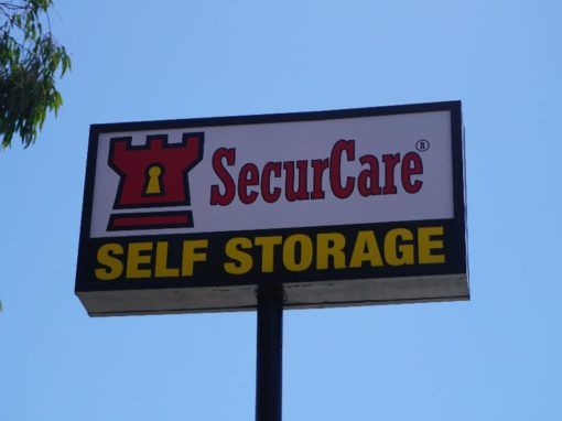 Pylon Sign For SecurCare Self Storage