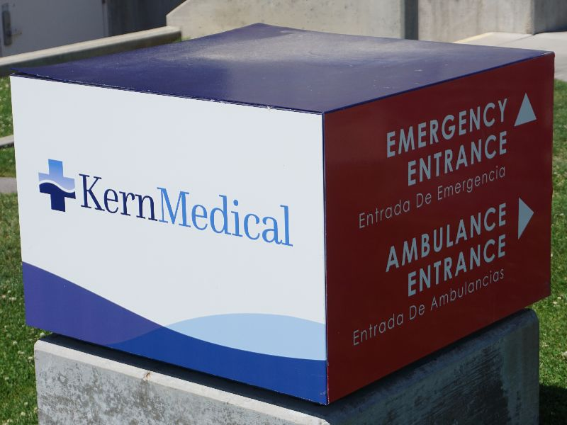 Monument Sign For Kern Medical Facility