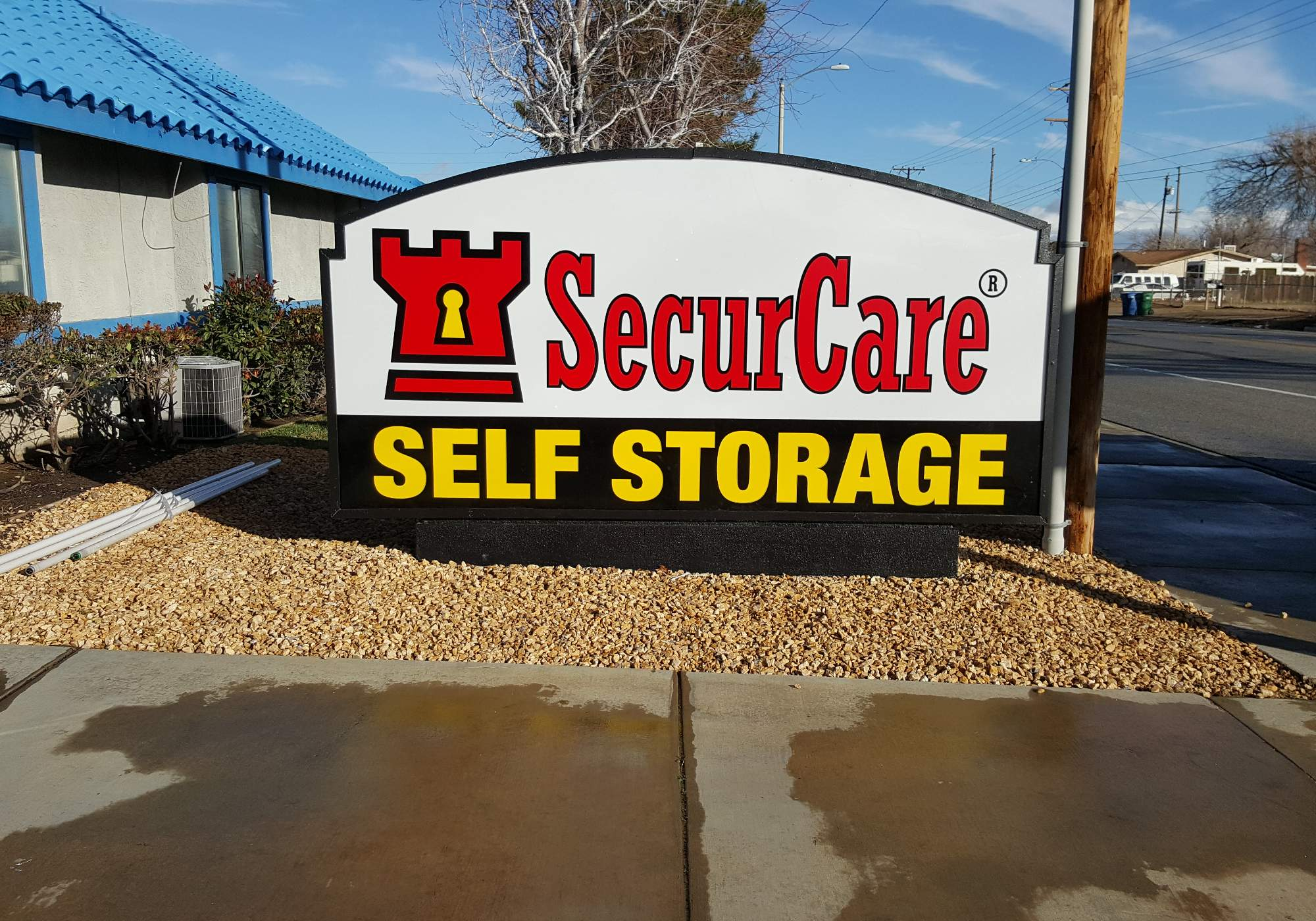 Monument Sign For Securcare Self Storage Advanced Sign